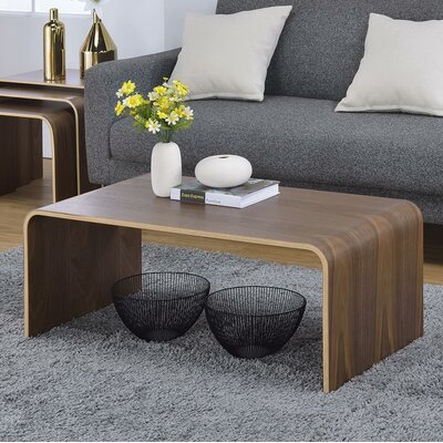 Dreshertown Bentwood Coffee Table Color: Walnut