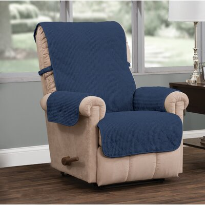T-Cushion Recliner Slipcover Upholstery: Blue