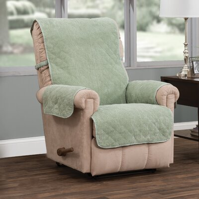 T-Cushion Recliner Slipcover Upholstery: Green