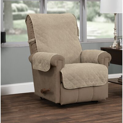 T-Cushion Recliner Slipcover Upholstery: Natural