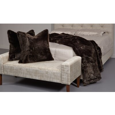 Ming 26 Faux Fur Throw Pillow Color: Black