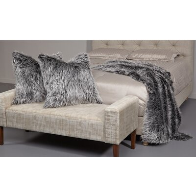 Ming 26 Faux Fur Throw Pillow Color: Gray
