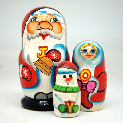 Joy Santa's Family 3 Piece Nest Doll Set 7A5C576E7B654EA3BE7347966596E9F4