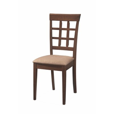 Baratz Open Grid Patterned Solid Wood Dining Chair