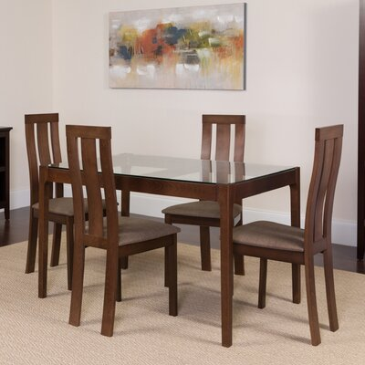 Humberto 3 Piece Dining Set Color: Espresso