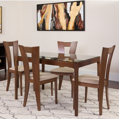 Humble 3 Piece Dining Set Color: Walnut