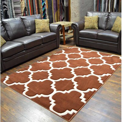 Mccampbell 3D Abstract Brown Area Rug