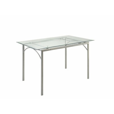 Cronly Glass and Metal Counter Height Dining Table