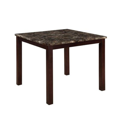 Colette Square Faux Marble Top Counter Height Dining Table
