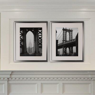 'New York Crossing' 2 Piece Framed Photographic Print Set 8E77CA2A77564D77A6D6A98E087754C4