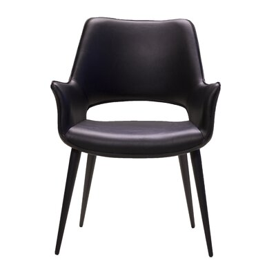 Mccart Upholstered Dining Chair Color: Black