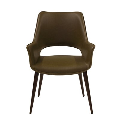 Mccart Upholstered Dining Chair Color: Brown