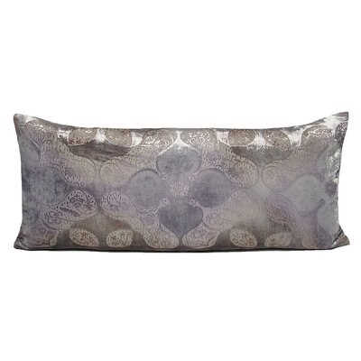 Persian Velvet Large Lumbar Pillow Color: Iris