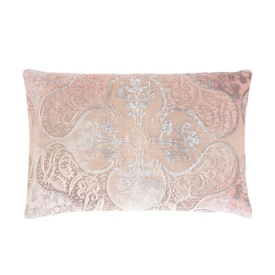 Persian Velvet Lumbar Pillow Color: Blush