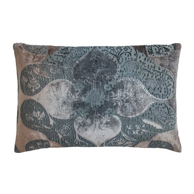 Persian Velvet Lumbar Pillow Color: Gunmetal