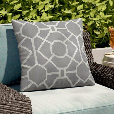 Southlake Cotton Throw Pillow Cover Color: Gray/ White