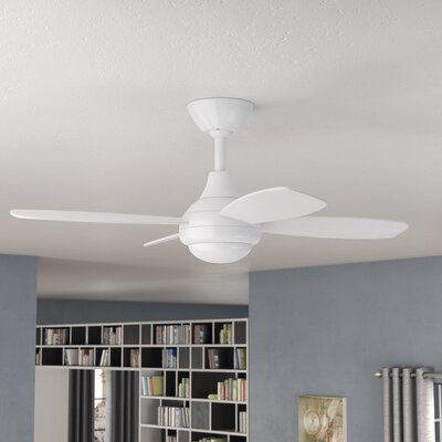 42 Lilla 4-Blade Ceiling Fan with Remote Finish: White