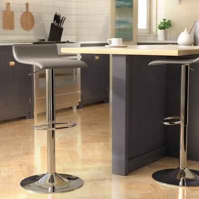 Dan Adjustable Height Swivel Bar Stool Color: Gray