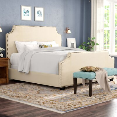 Bulpitt Platform Bed Size: Queen, Color: Cr�me