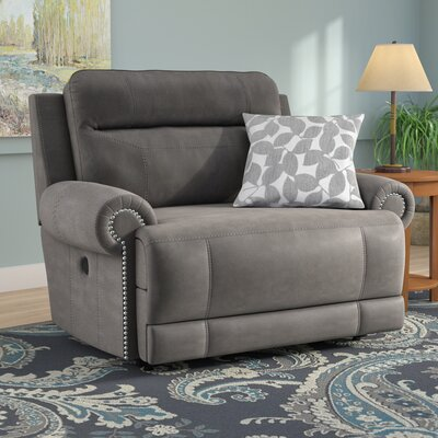 Culver Power Recliner Reclining Type: Manual, Upholstery: Gray