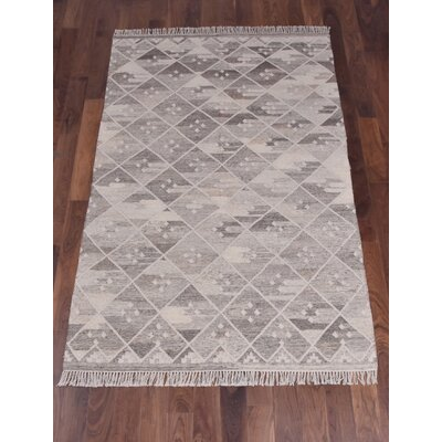 Berwick Hand-Woven Silver Area Rug Rug Size: Rectangle 5 x 8