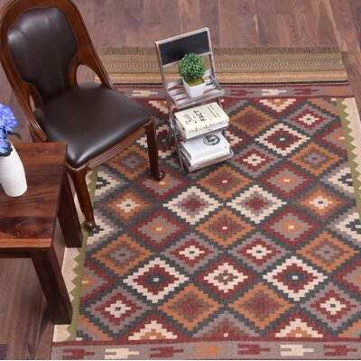 Westberg Hand-Woven Brown Area Rug Rug Size: Rectangle 5 x 8