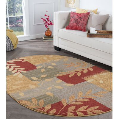 Kappel Transitional Abstract Beige Area Rug Rug Size: Oval 5 x 8