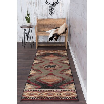 Villatoro Expedition Wildlife Novelty Lodge Beige Area Rug Rug Size: Runner 3 x 8