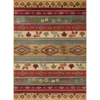 Villela Novelty Lodge Beige Area Rug Rug Size: Rectangle 4 x 6