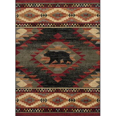 Villatoro Expedition Wildlife Novelty Lodge Beige Area Rug Rug Size: Rectangle 8 x 11