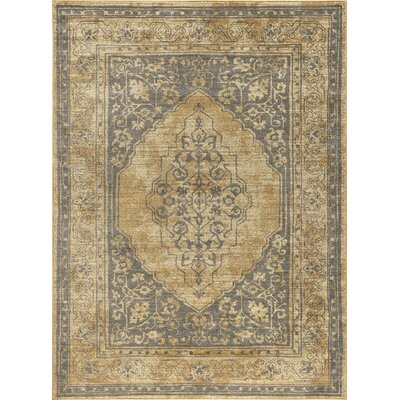 Ramm Transitional Border Beige Area Rug Rug Size: Rectangle 8 x 11