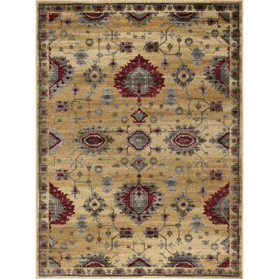 Mizer Transitional Border Beige Area Rug Rug Size: Rectangle 5 x 8