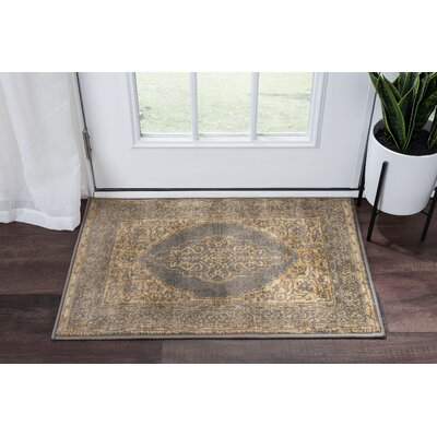 Ramm Transitional Border Ivory Area Rug Rug Size: Rectangle 2 x 3