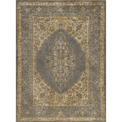 Ramm Transitional Border Ivory Area Rug Rug Size: Rectangle 5 x 8