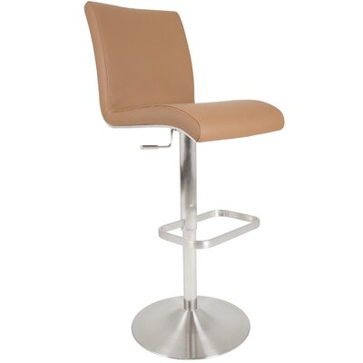 Adjustable Height Swivel Bar Stool Upholstery: Camel