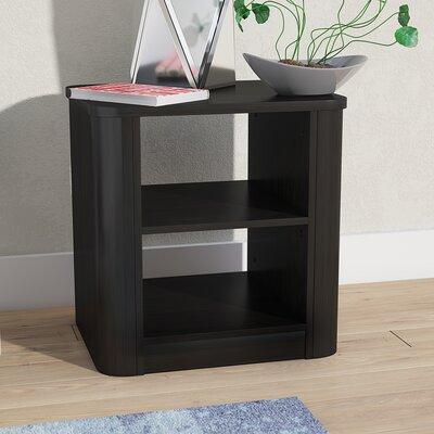 Polito Wood 2-Shelf Nightstand Color: Espresso Brown