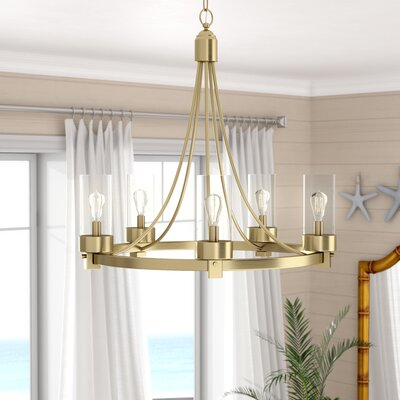 Delshire 5 Light Candle-Style Chandelier
