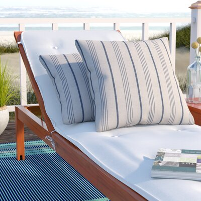 Ashmoore Stripe Throw Pillow Color: Blue