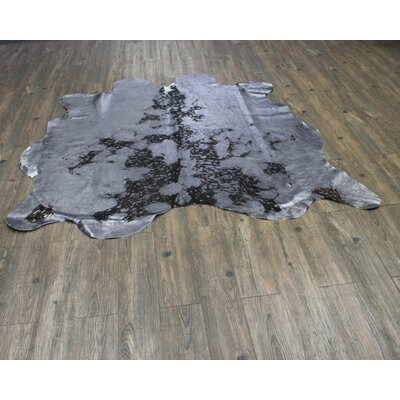 One-of-a-Kind West Drive Hand-Woven Cowhide Gray Area Rug