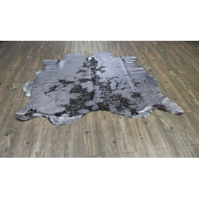 One-of-a-Kind Welton Hand-Woven Cowhide Gray Area Rug