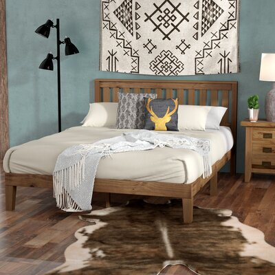 Moreno Valley Wood Platform Bed Size: Queen