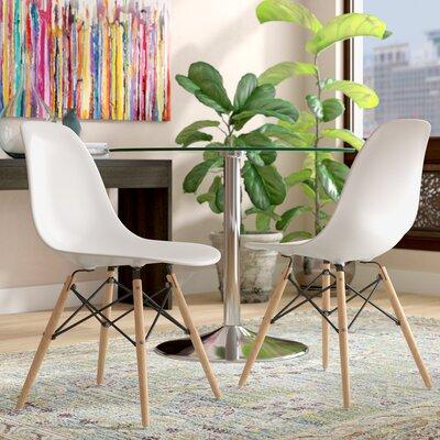 Ressler Plastic Dining Chair (Set of 2) Color: White
