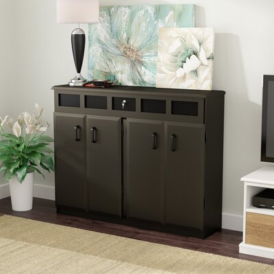 Top Load Multimedia Cabinet Color: Black