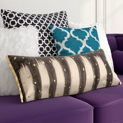 Shirli Polka Dots 100% Cotton Lumbar Pillow