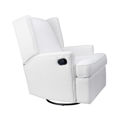Alcott Wingback Manual Swivel Glider Recliner Upholstery: White