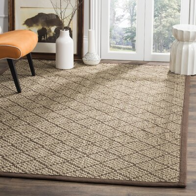 Raiden Natural/Brown Area Rug Rug Size: Rectangle 8 x 10