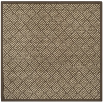 Raiden Natural/Brown Area Rug Rug Size: Square 6