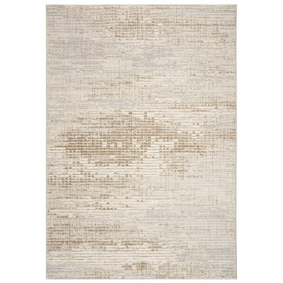 Hermina Cream/Beige Area Rug Rug Size: Rectangle 5'1