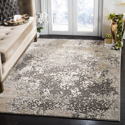 Hermina Cream/Beige Area Rug Rug Size: Rectangle 51 X 76