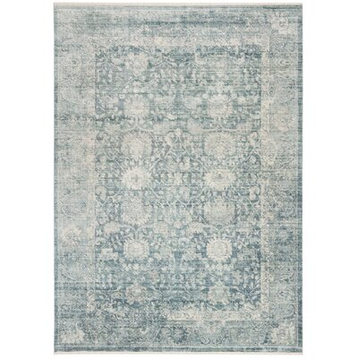 Soren Blue/Ivory Area Rug Rug Size: Rectangle 5 X 8